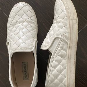 white quilted loafers, worn a dozen times